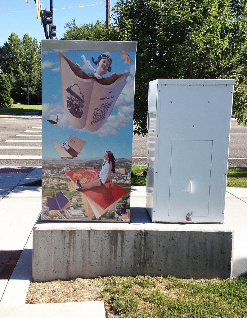ABOVE: An example of the Boise Traffic Box Art Collection. Image courtesy of Boise City Department of Arts & History.