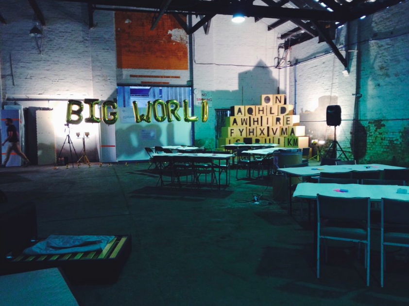 At the Big World Homes workshop at the Commune in Waterloo, Sydney. Photo credit: Luschia Porter