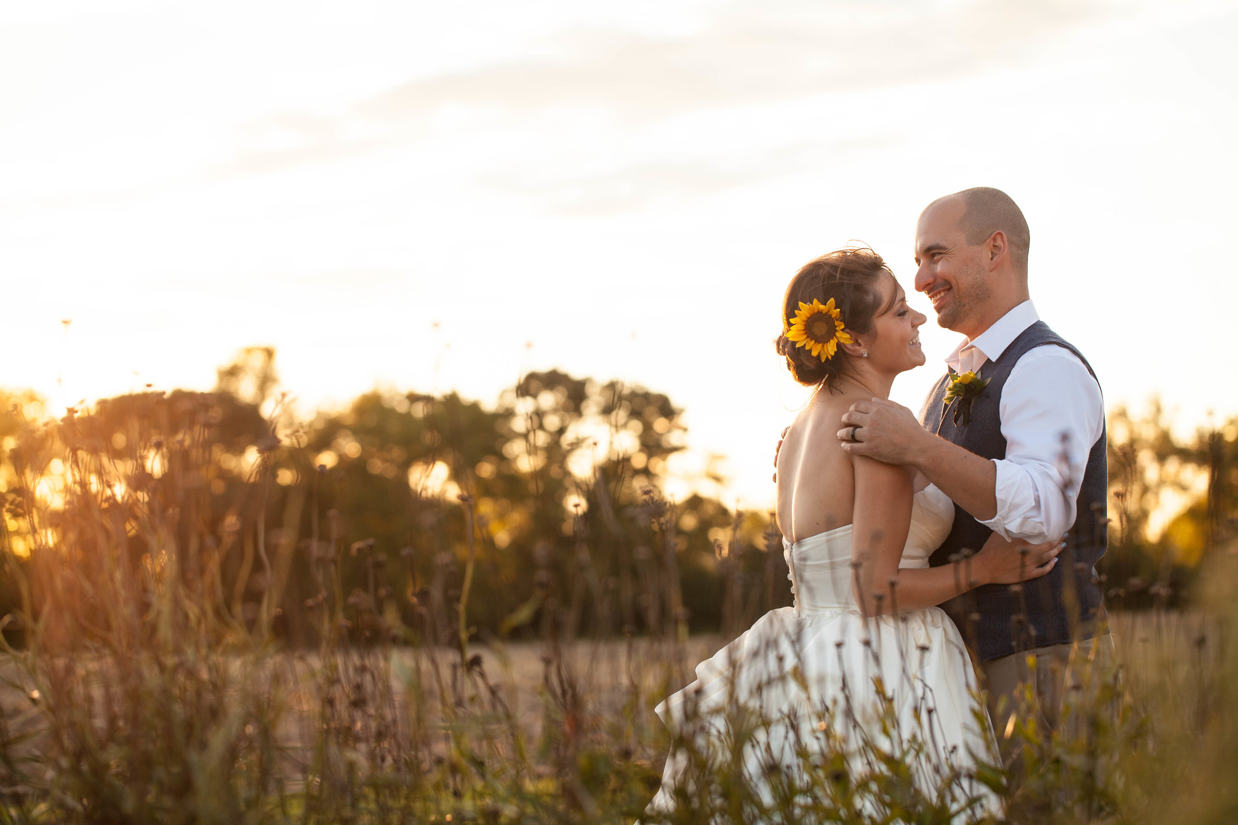 The surrounding fields provide a beautiful, natural backdrop.  Image by  Katy B Imagery