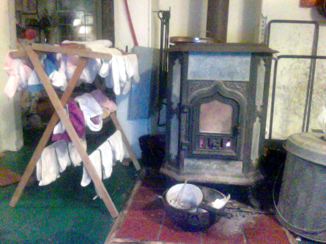 diapers and the stove...