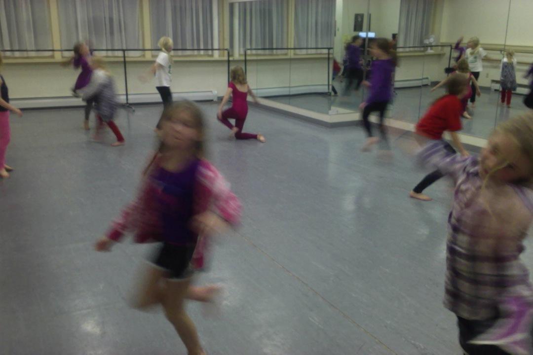 modern dancers in flight