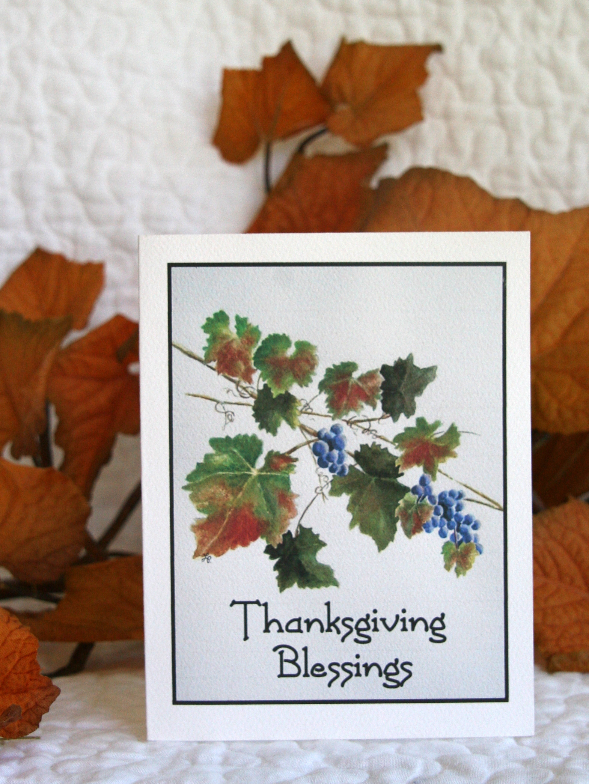 Thanksgiving Greeting Cards - 4 Card Set  Click  HERE  for details