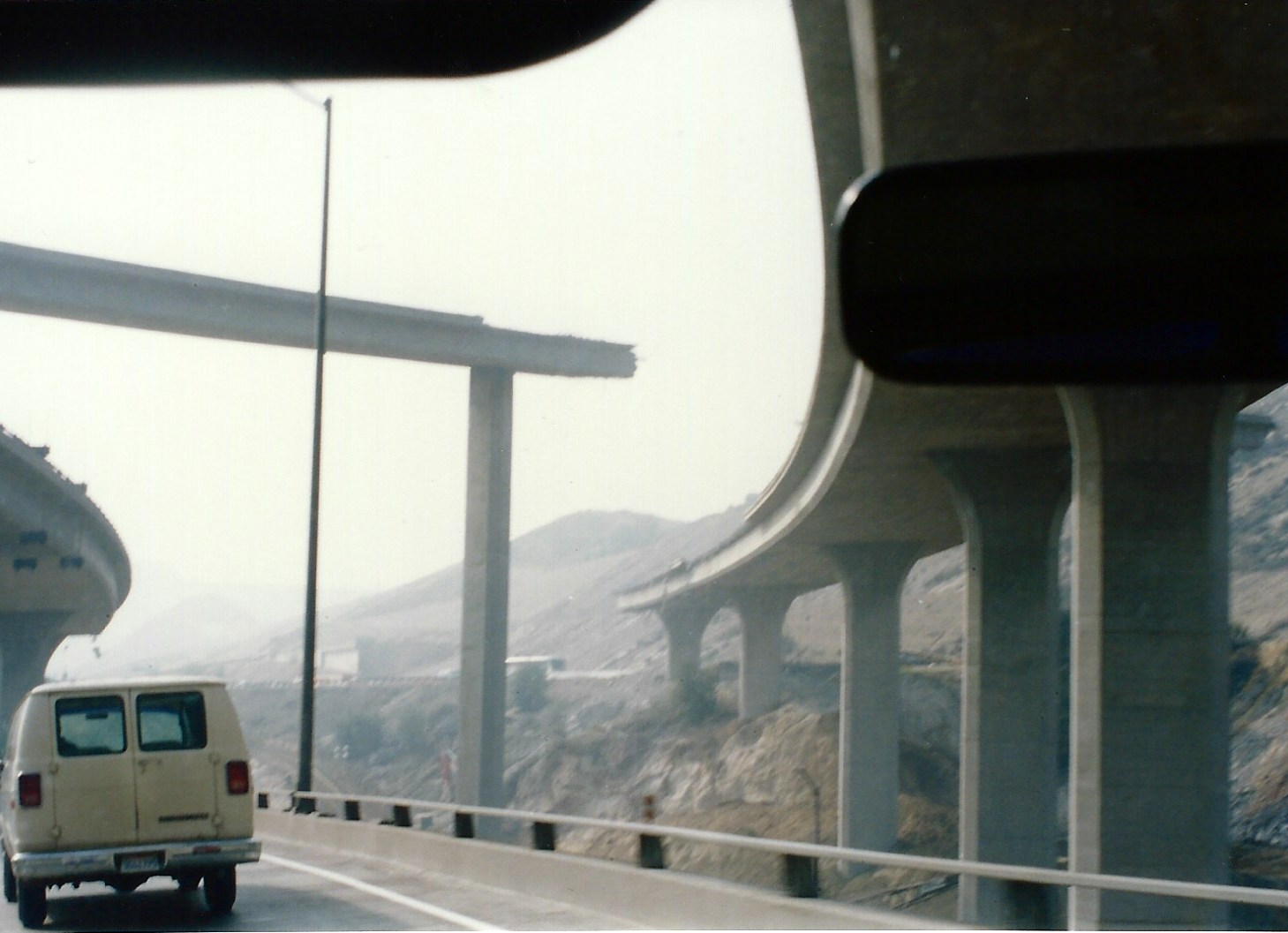 5 Freeway at Newhall Pass - Northridge Earthquake 1994 (Photo by Gary)