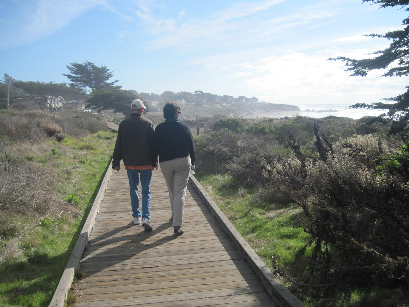 November 2011 - Middle stage dementia, but still enjoying the walk.