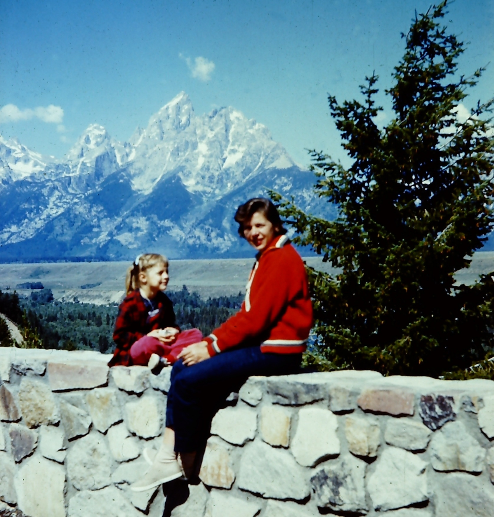 Grand Teton National Park - 1957 - Mom and I