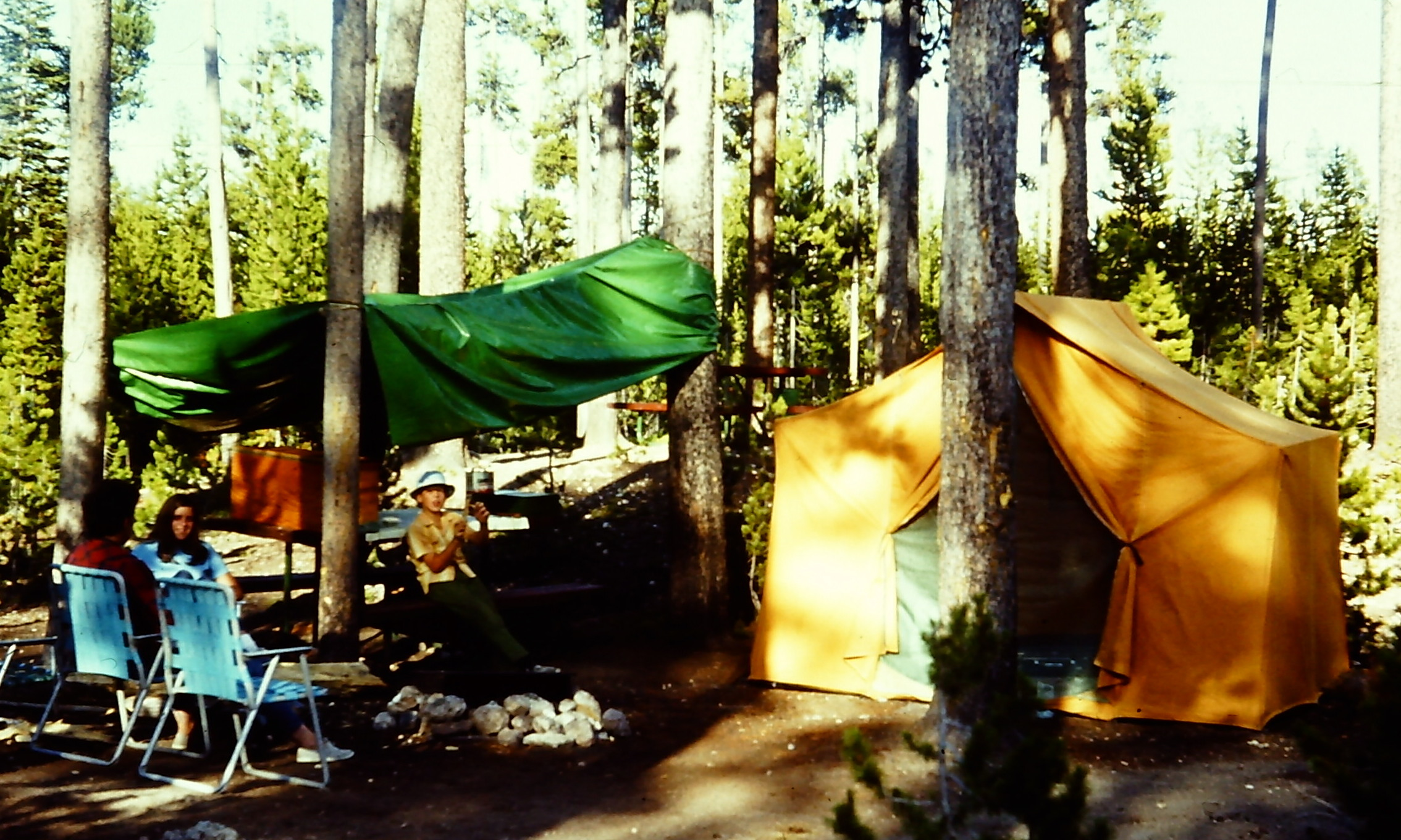 Madison Campground - Yellowstone - 1969