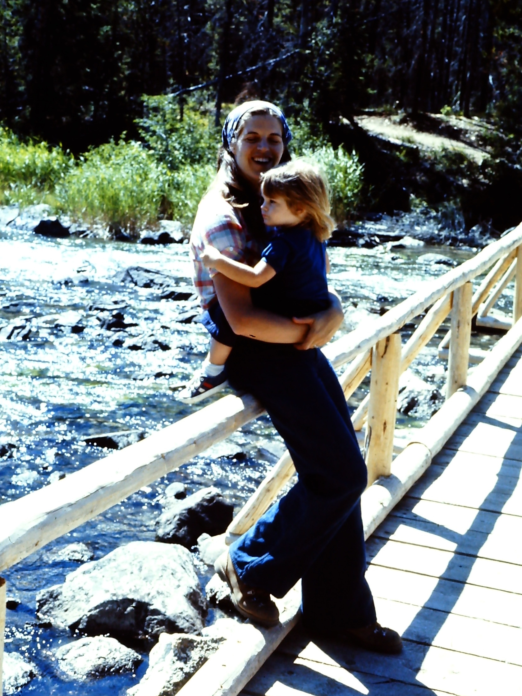 Laurie & Sarah - String Lake area - GTNP - 1977