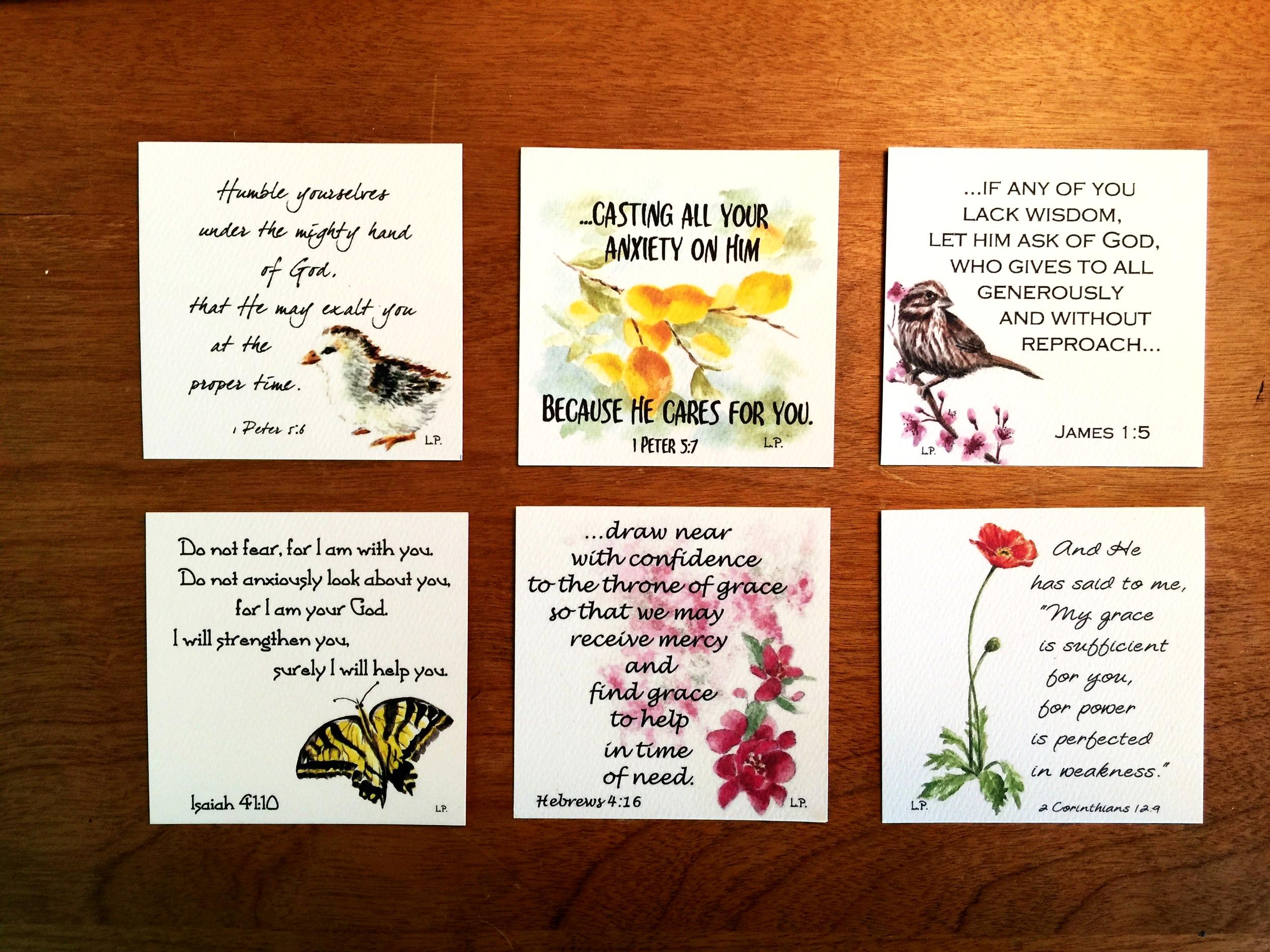 MINI SCRIPTURE MEMORY CARDS