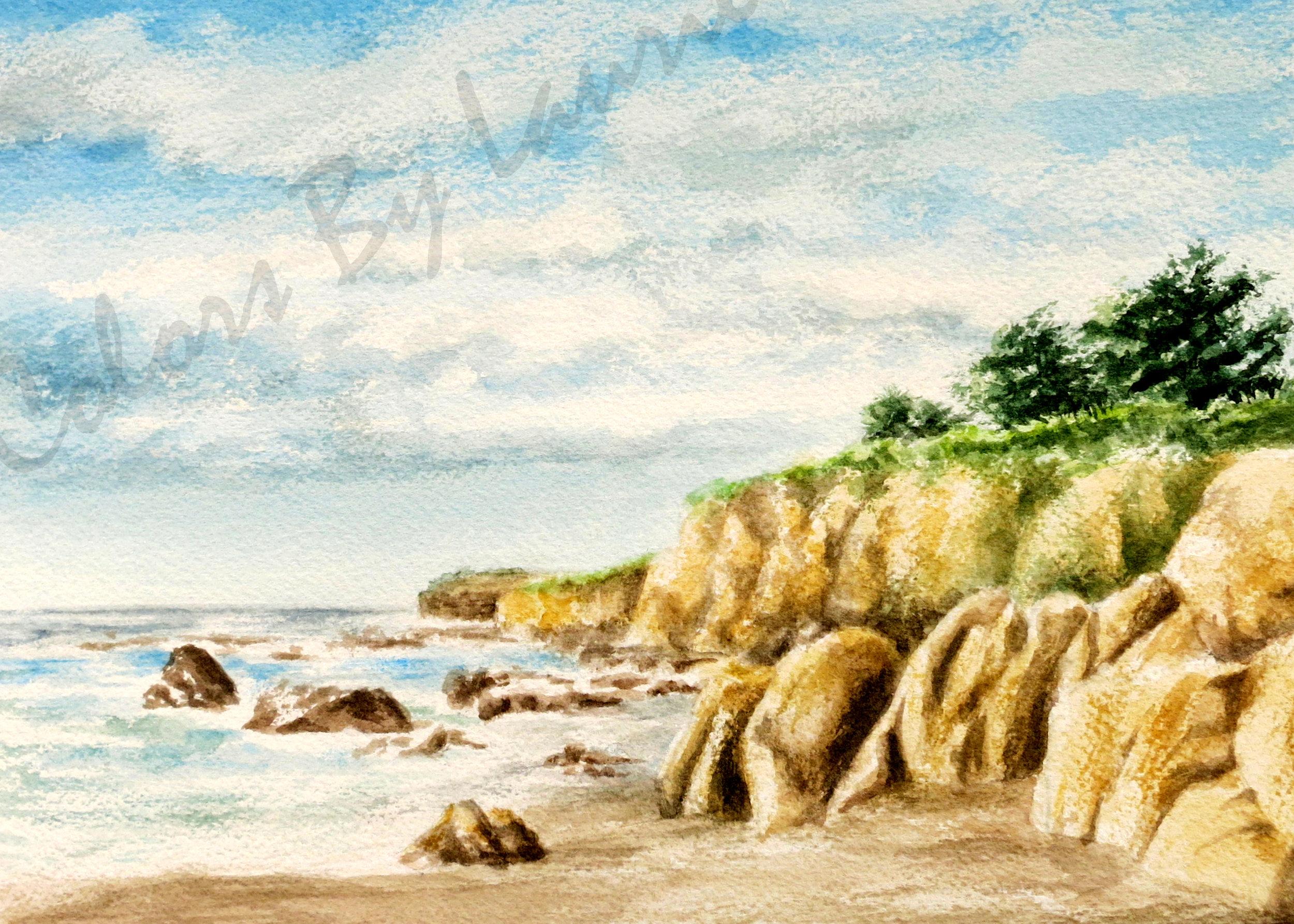 MOONSTONE BEACH - Cambria, CA - SIZE: 5 X 7