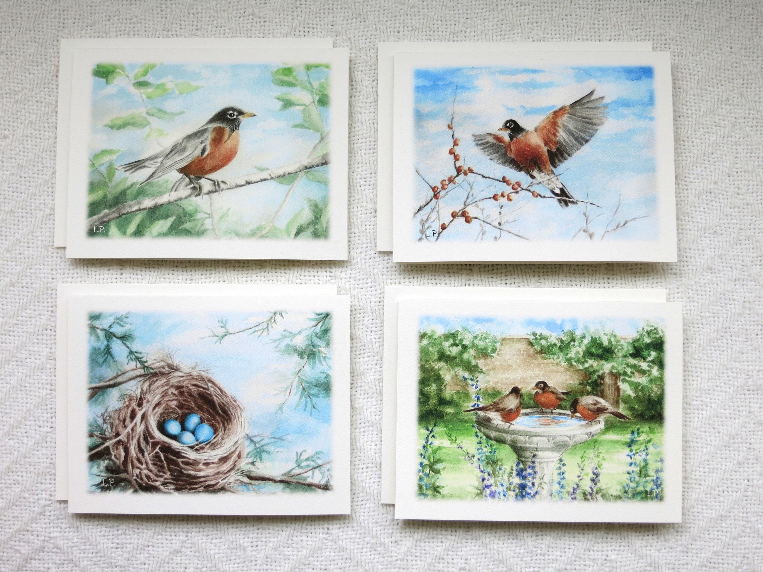 SECRET GARDEN NOTE CARDS - 2 each of 4 designs - Blank inside