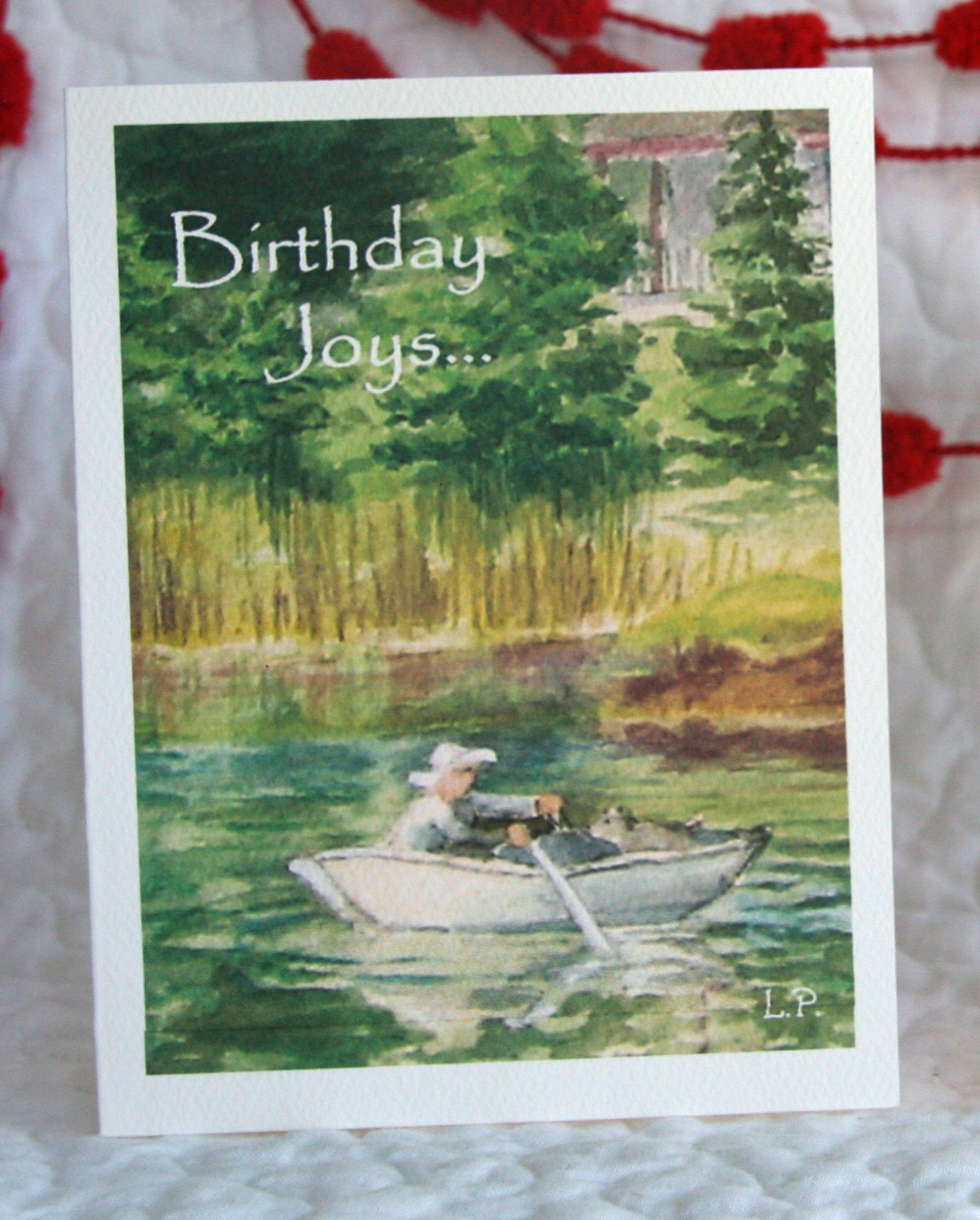 """ROWBOAT  INSIDE: """"This is the day which the Lord has made; Let us rejoice and be glad in it."""" Psalm 118:24 Happy Birthday!"""