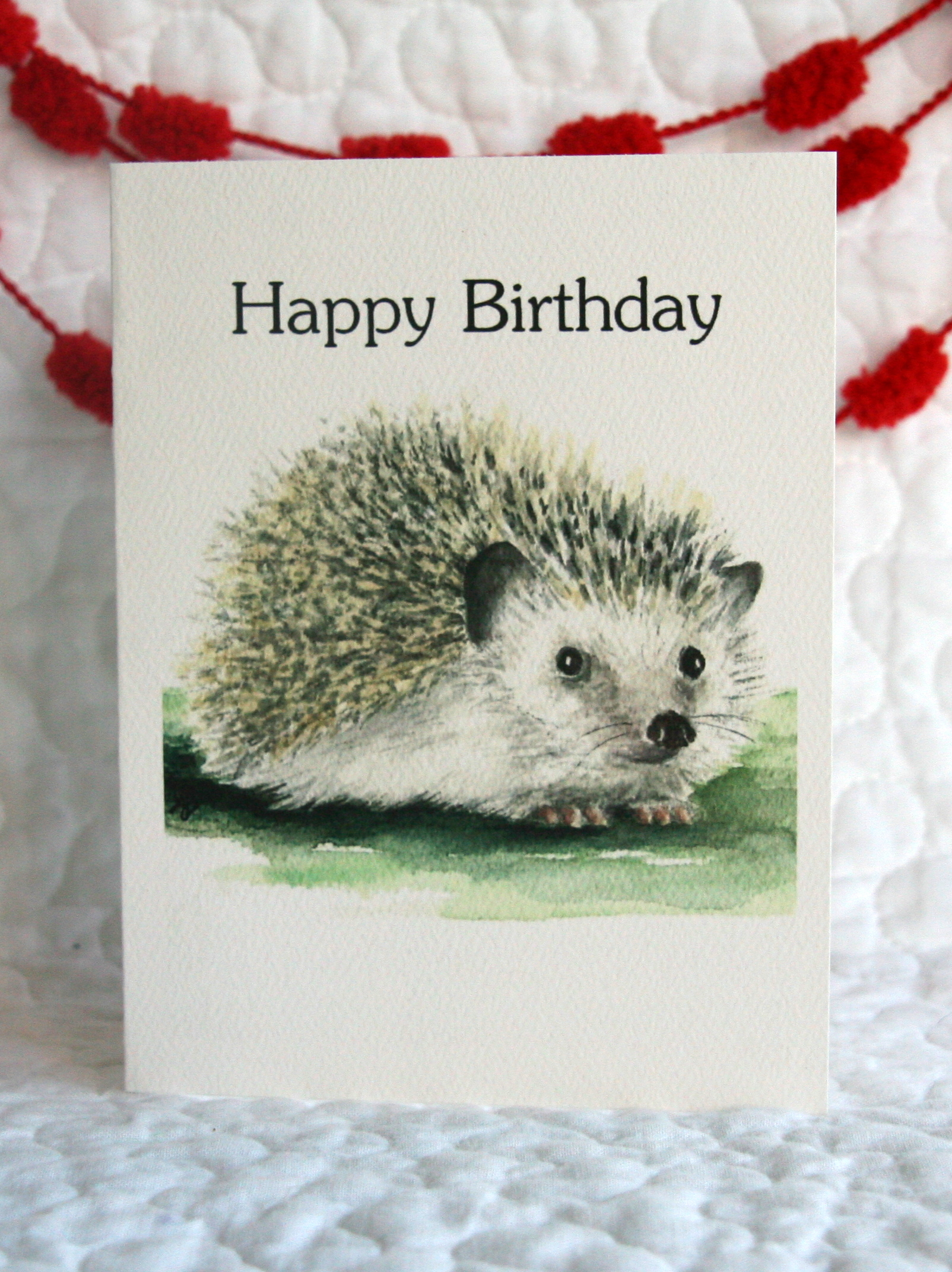 HEDGEHOG - HAPPY BIRTHDAY    INSIDE: ...to loveable you!