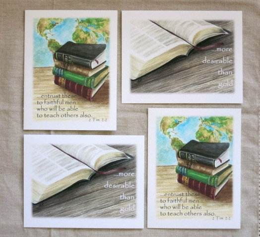 WORDS OF TRUTH NOTE CARDS - 2 each of 2 designs - Blank inside