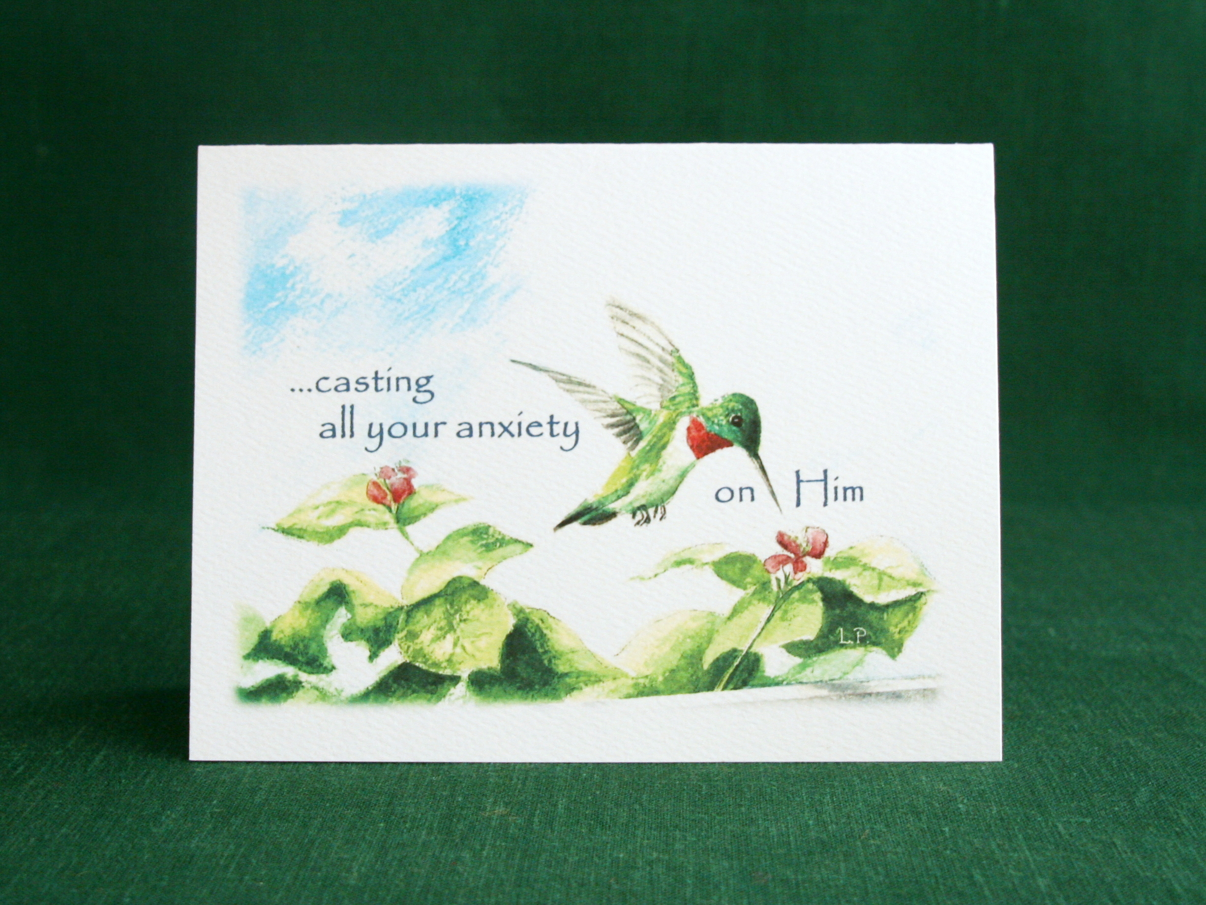 INSIDE: ...because He cares for you. 1 Peter 5:7