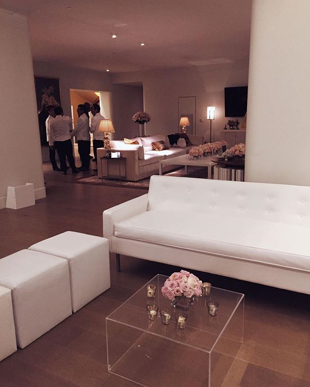 Last night's intimate set-up at the Faena penthouse for Madonna's after party. If only sofas could talk. #raisingmalawi #artbasel
