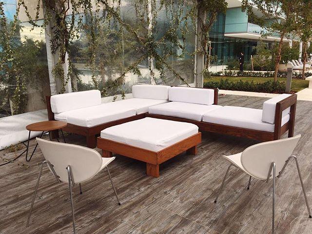 Corner lounges for tonight's event for Oceana Bal Harbour X Jeff Koons #artbasel2016