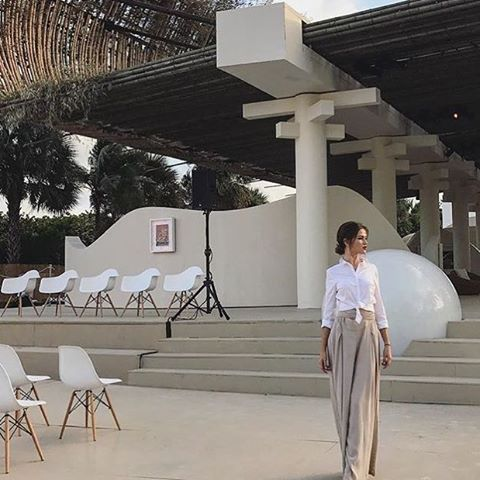 Our chairs are all set on stage for this beautiful installation #audemarspiguet #sunxun #artbasel2016 [photo by @loginowski]