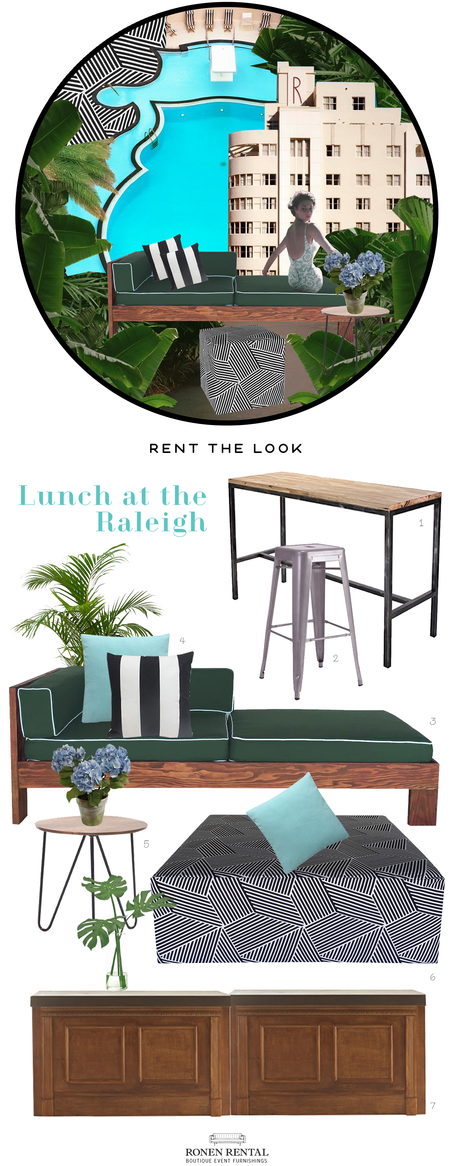 Ronen Rental - Rent the Look - lunch at the raleigh