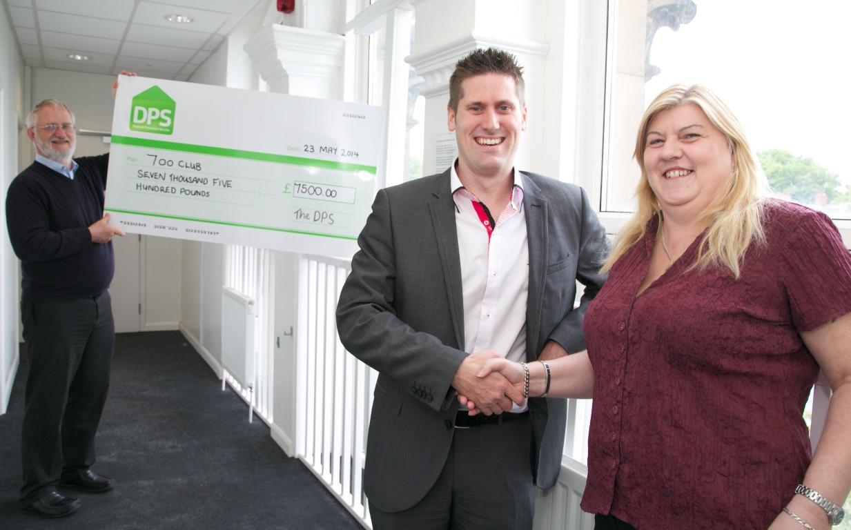 700 Club cheque handover