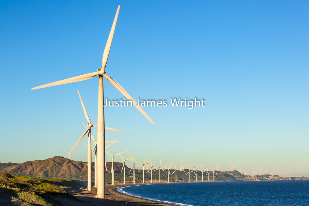 Bangui Bay Wind Farm, Ilocos Norte, Philippines   Philippine Image # 4159  If you wish to purchase a photography print of this image, or would like to license this image please contact us using the form below.  Please kindly include the Image Title and Image Ref # in your message, we will get back to you.