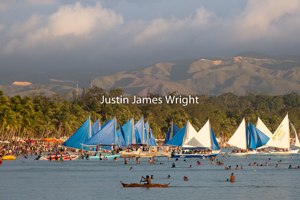 Sailing Boats during the Golden Hour, Boracay, Aklan, Philippines   Philippine Photo # 4163  If you wish to purchase a photography print of this image, or would like to license this image please contact us using the form below.  Please kindly include the Image Title and Image Ref # in your message, we will get back to you.