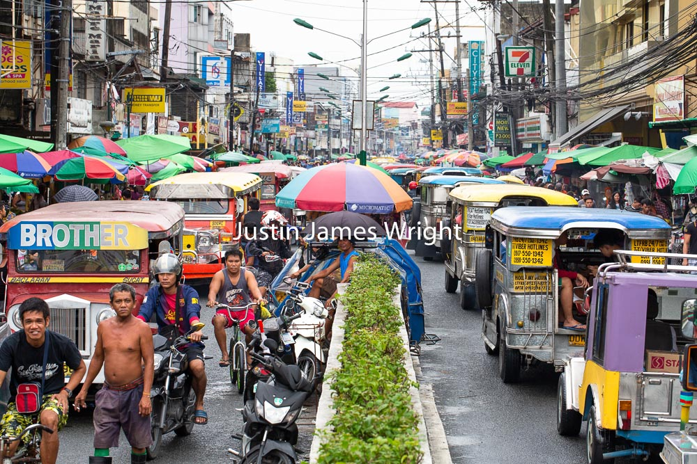 Hectic Street Scene, Baclaran, Metro Manila, Philippines.   Philippine Photo 5261  If you wish to purchase a photography print of this image, or would like to license this image please contact us using the form below.  Please kindly include the Image Title and Image Ref # in your message, we will get back to you.