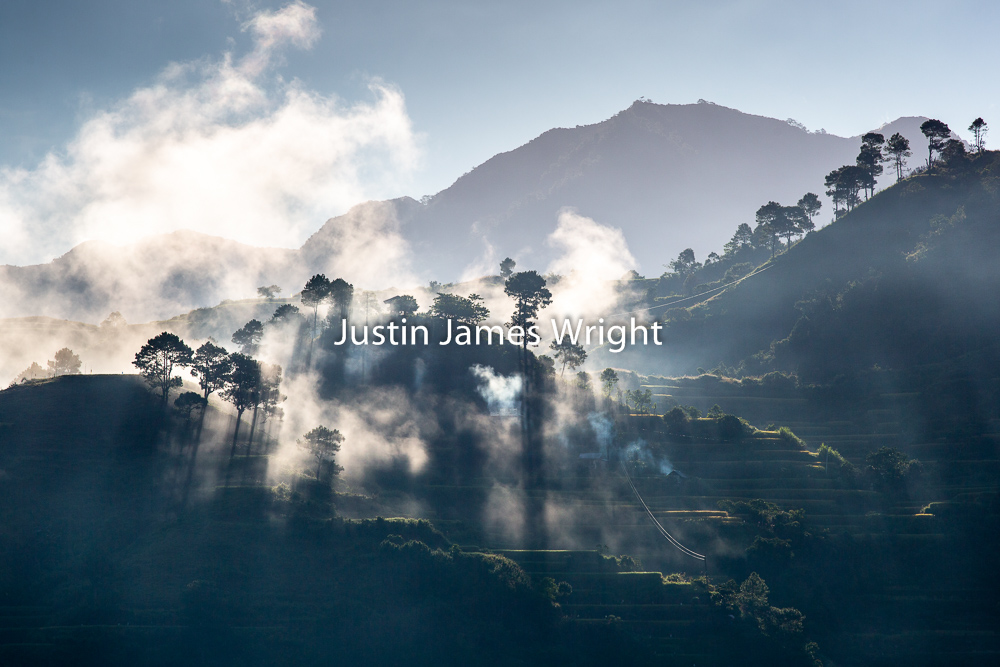 Mornings in the Cordilleras, Bontoc, Mountain Province, Philippines