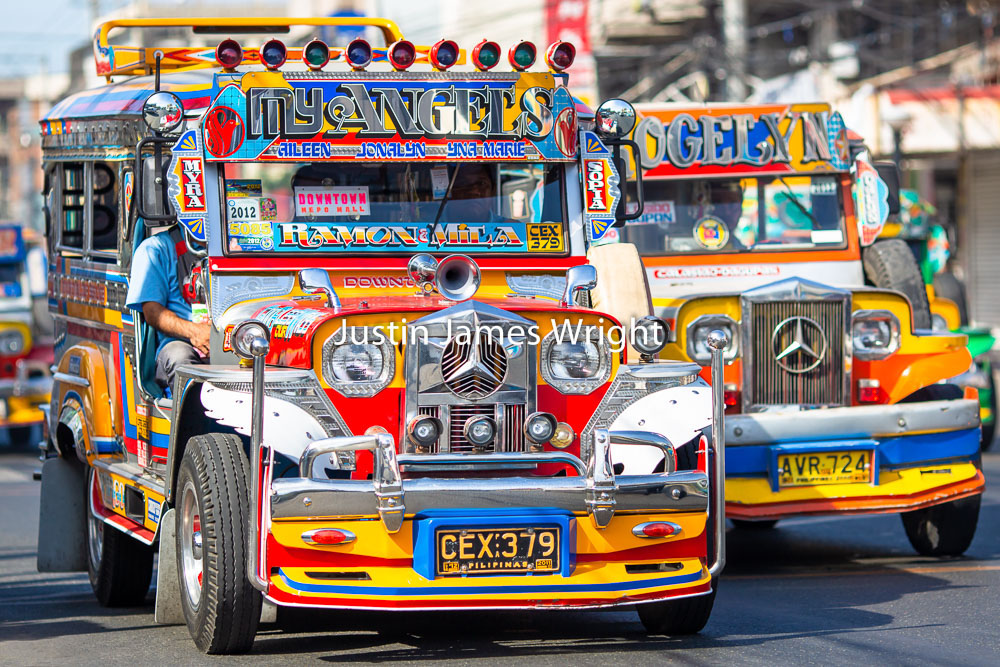 Colorful Passenger Jeepneys, Dagupan City, Pangasinan, Philippines   A popular means of public transport.