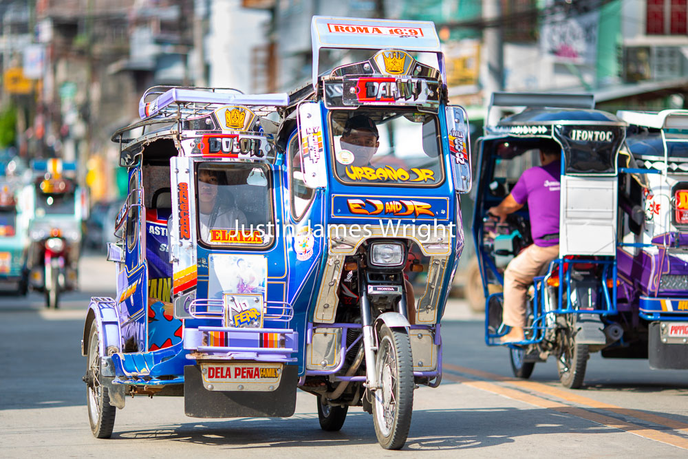 Colorful Tricycles, Bontoc, Mountain Province, Philippines   A popular means of public transport.