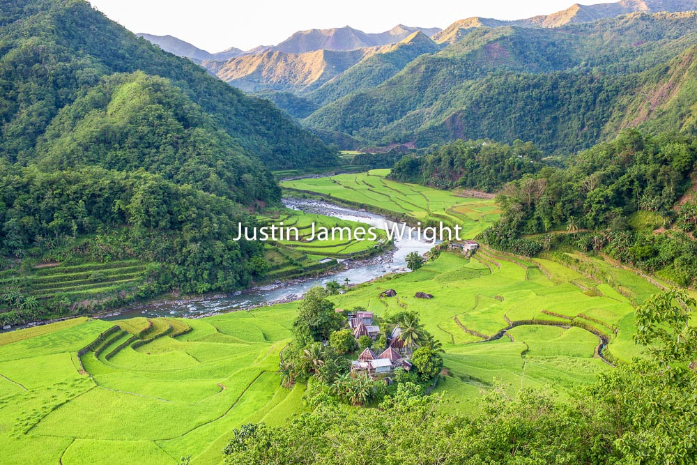 Ducligan Rice Terraces, Banaue, Ifugao, Philippines.   A UNESCO World Heritage Site  Philippine Image # 4029  If you wish to purchase a photography print of this image, or would like to license this image please contact us using the form below.  Please kindly include the Image Title and Image Ref # in your message, we will get back to you.