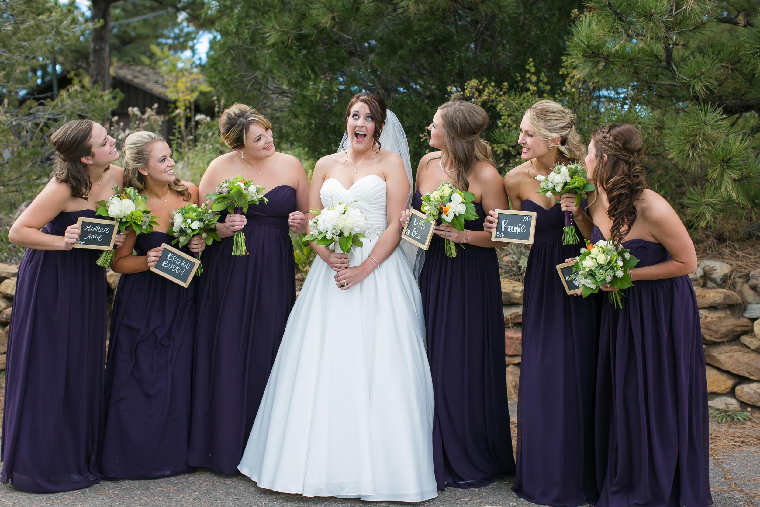 Purple Bridemaids Dresses Colorado