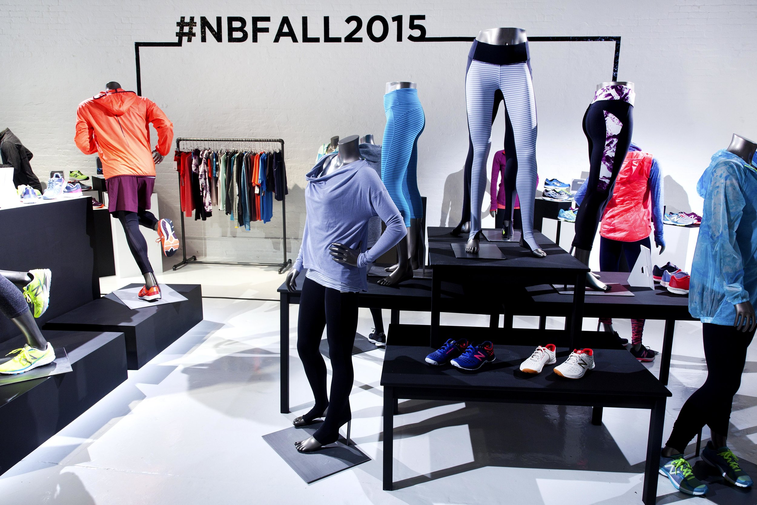 New Balance Fall Product Line Display