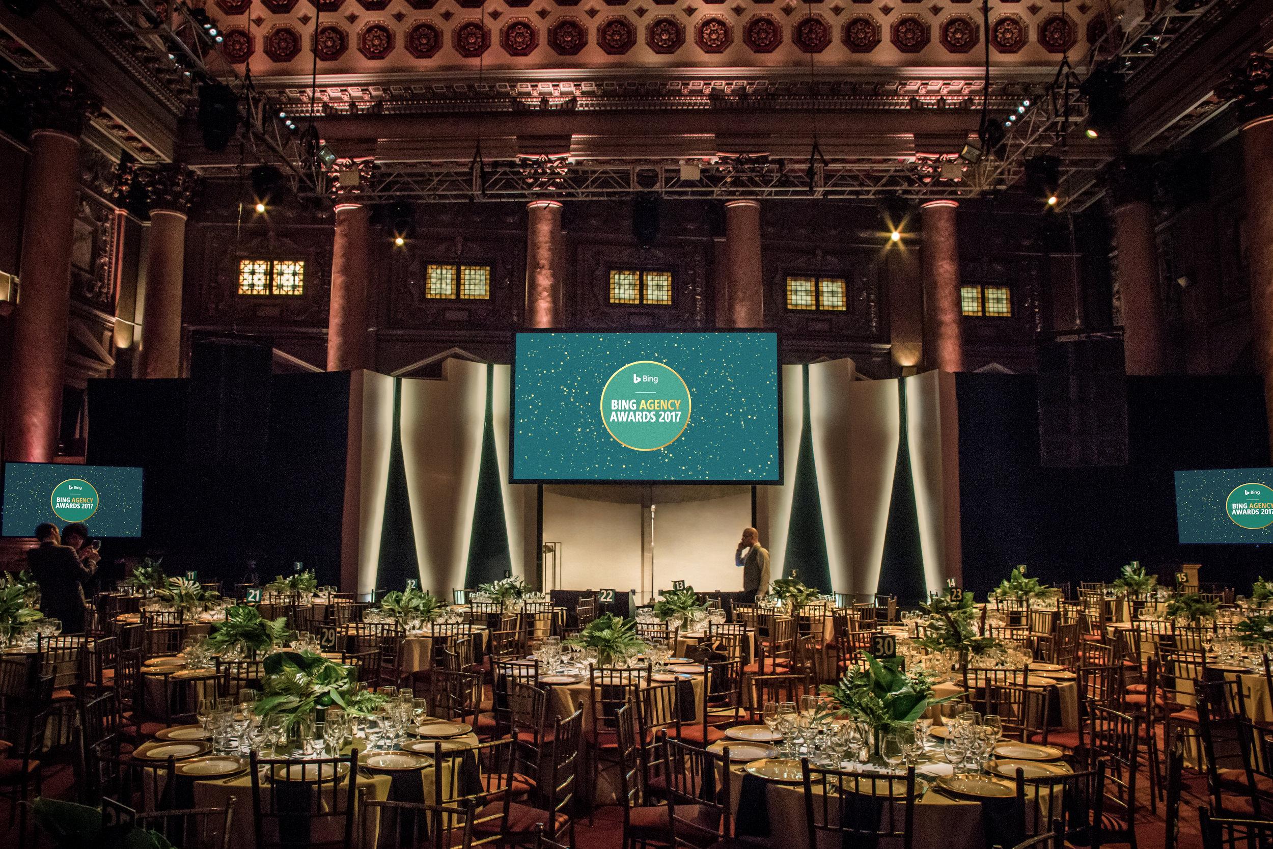 Microsoft, Bing, Agency, Awards, Creative, Production, Design, Strategy, Dinner, Trevor Noah, Shine Bright, Invisible North, B2B, Awards Ceremony