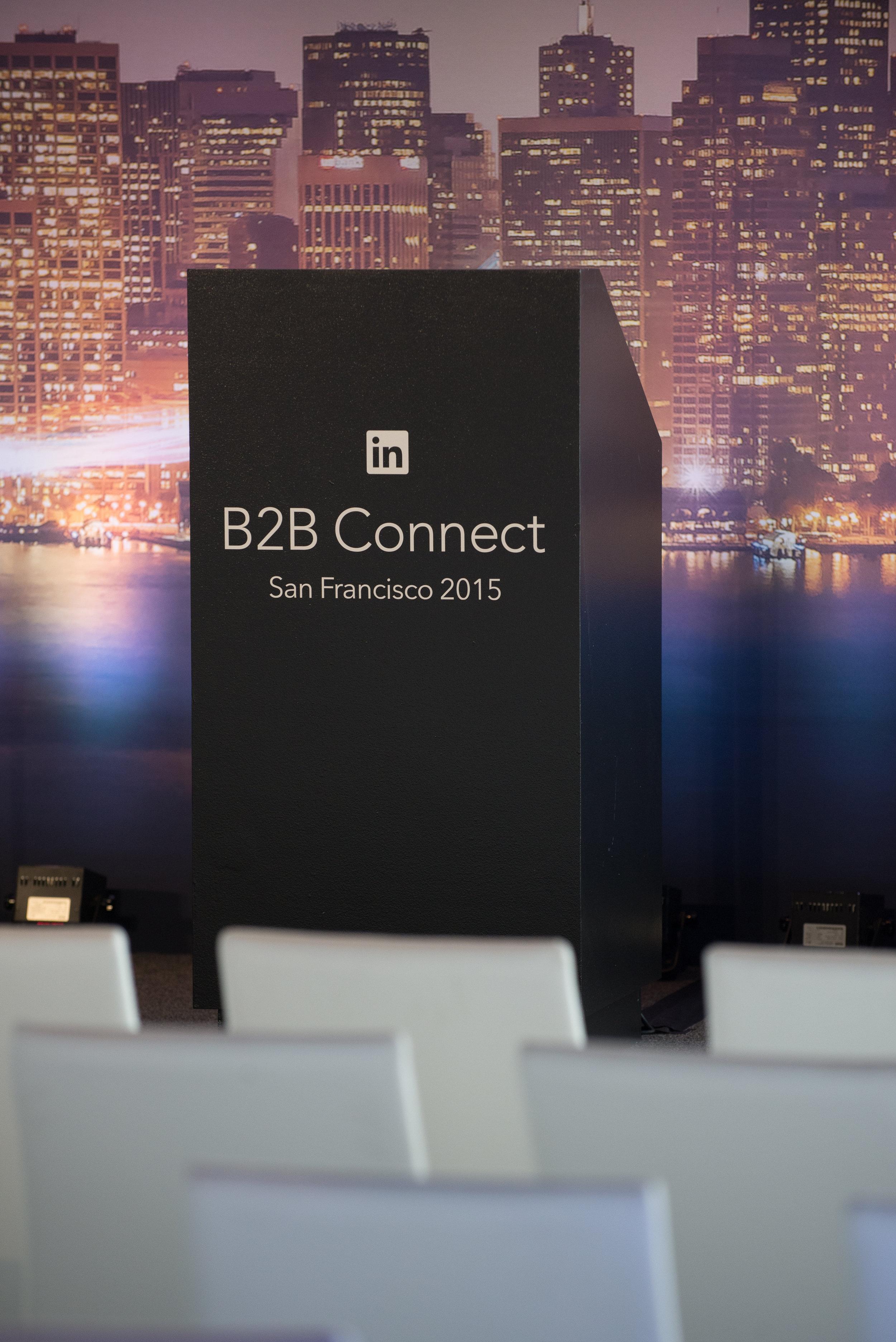 LinkedIn B2B Connect Tour Podium Display