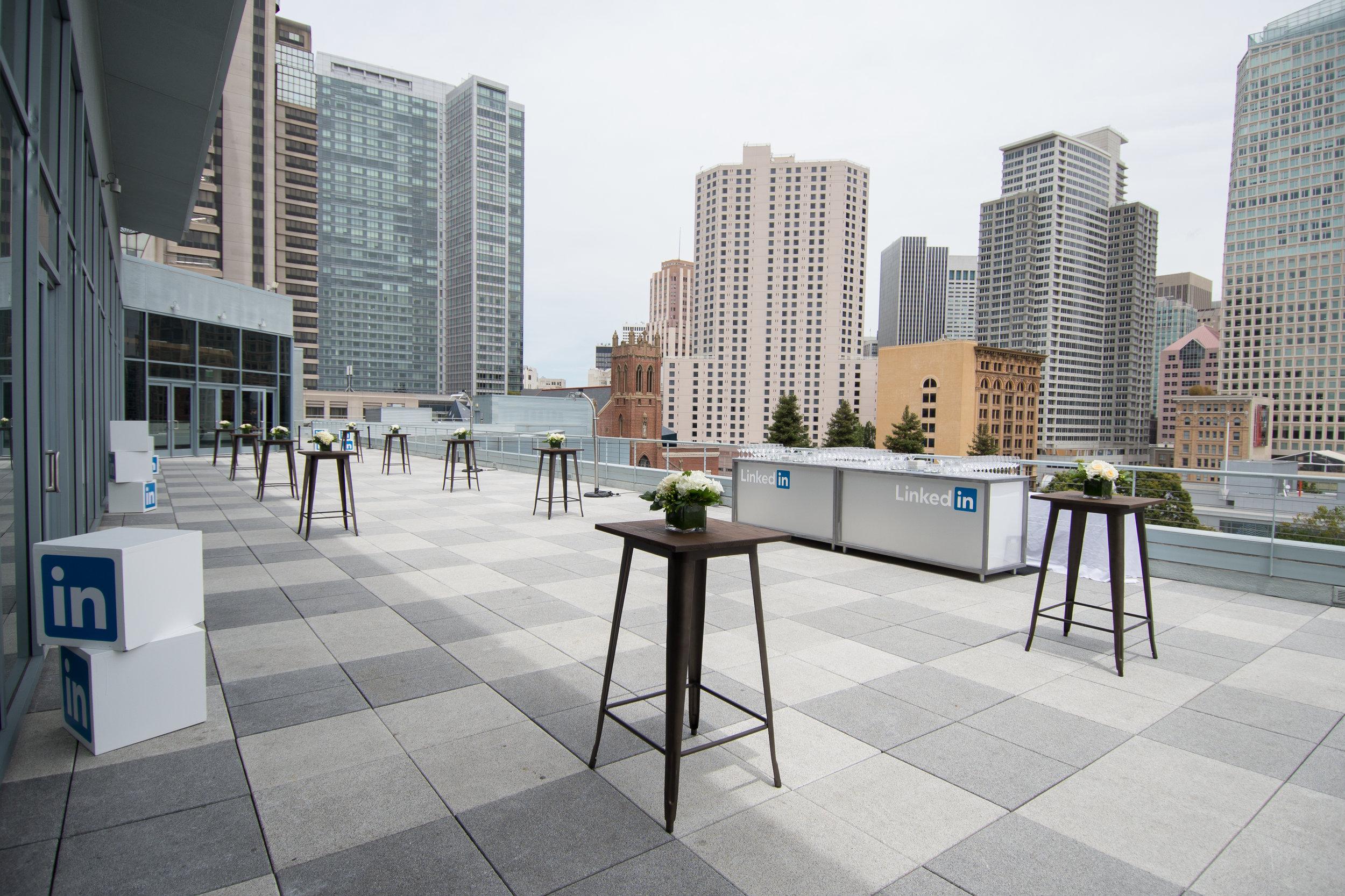 LinkedIn B2B Connect Tour San Fransisco Outdoor Terrace