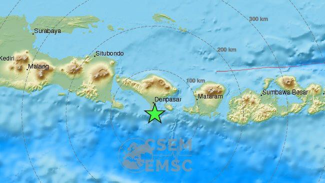 Bali wakes to a shake: Magnitude 6.4 event strikes resort island. Source: EMSC