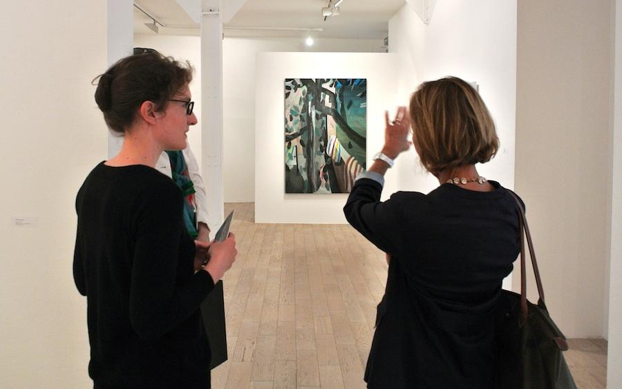 Marc Desgrandchamps at Galerie Zürcher.