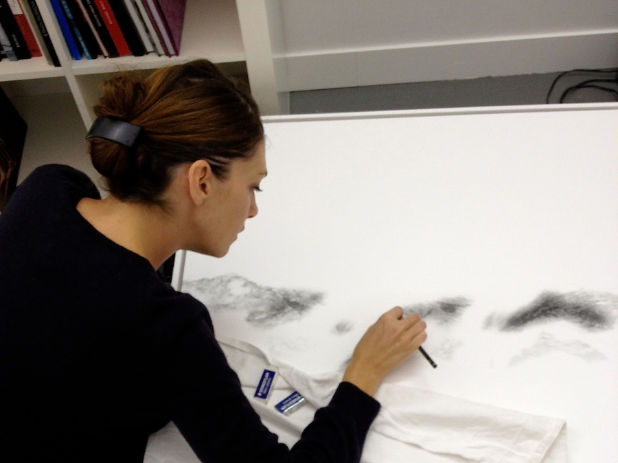 Anne-Lise Broyer at work