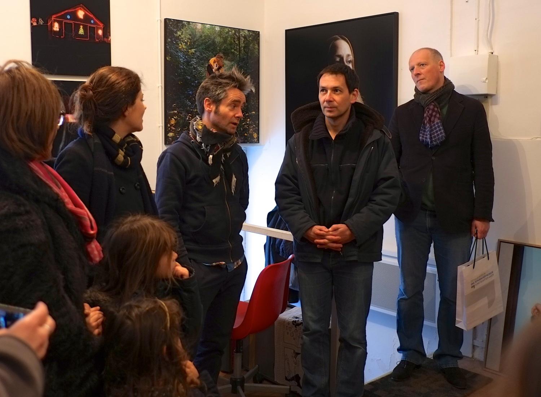 Visiting Christophe Beauregard at Bateau Lavoir