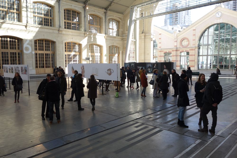 The scene at Circulations, Centquatre