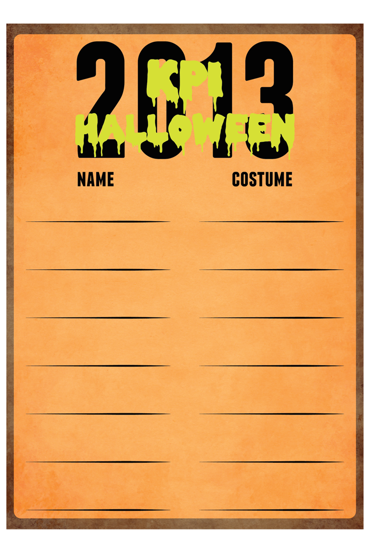 Halloween 2013 Sign Up