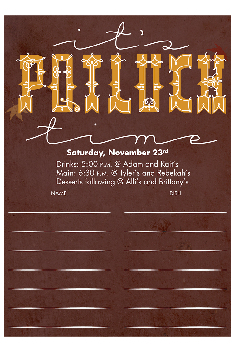 Potluck Sign Up