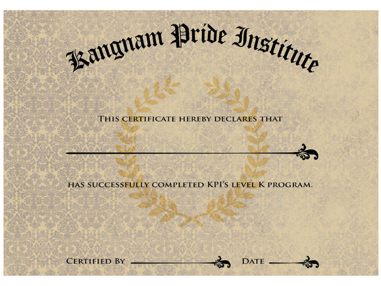 KPI Diploma, Level K