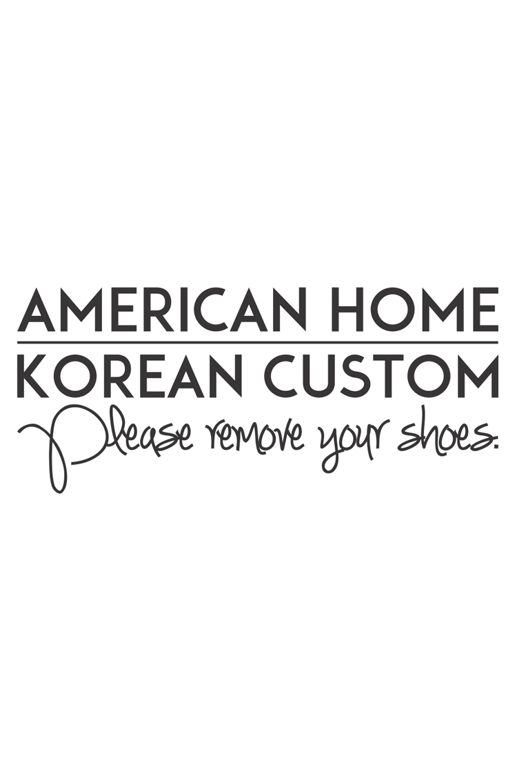 American Home, Korean Custom House Sign