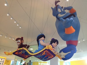 Lego Store in Downtown Disney featuring Aladdin