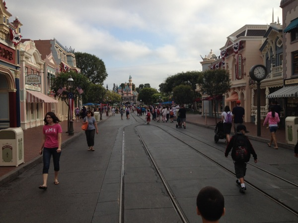 Disneyland Main Street.  Look at the total lack of crowds. Get. Up. Early!