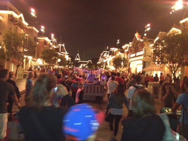After fireworks, Main Street is a little more crowded...