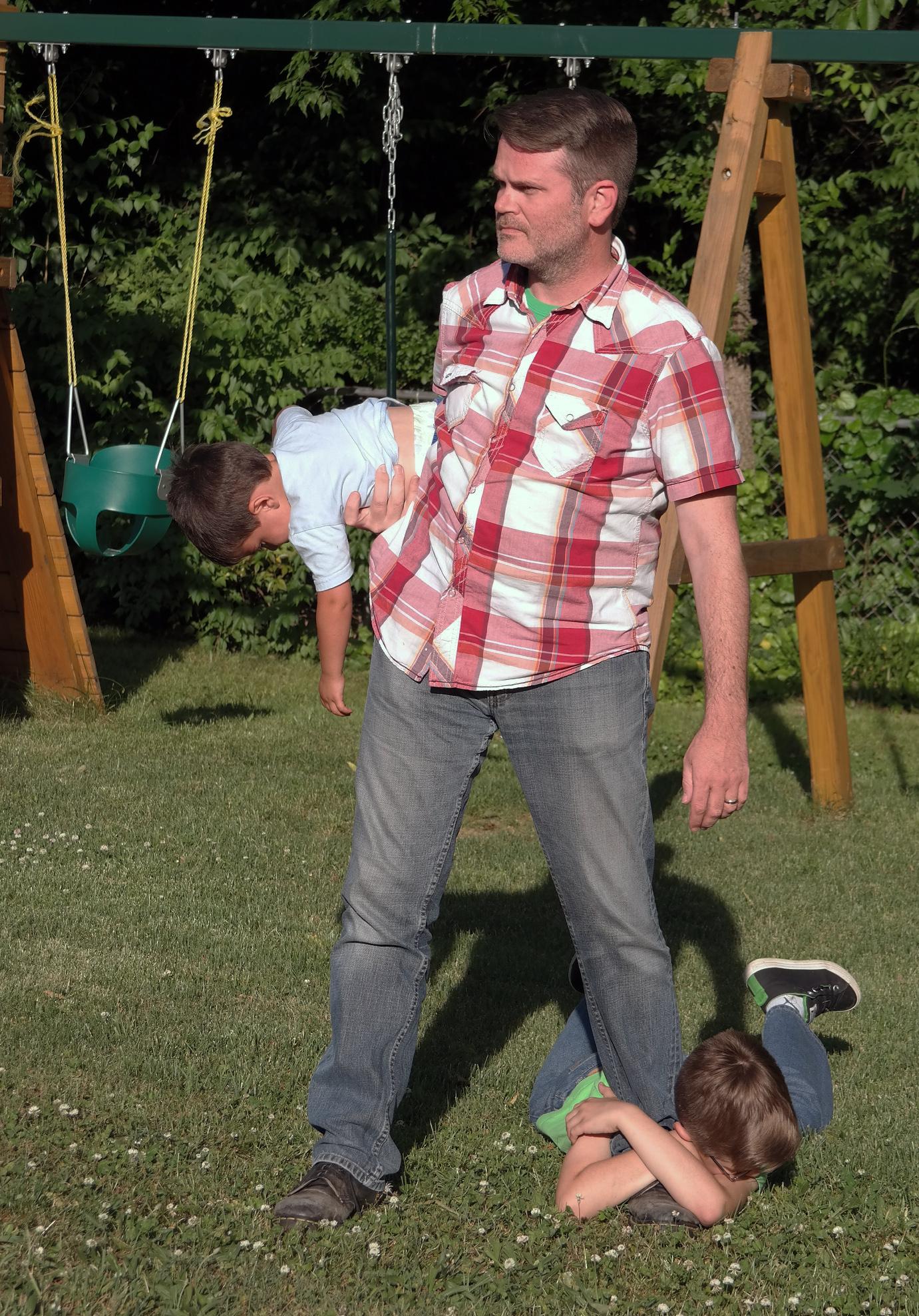 Dave Loftin and kids