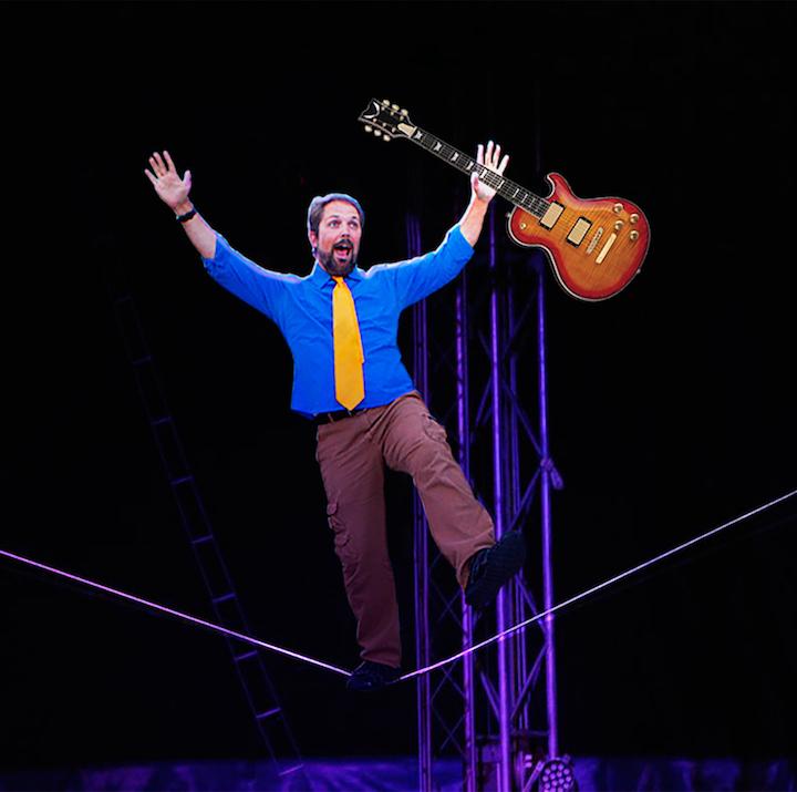 Eric Herman on tightrope