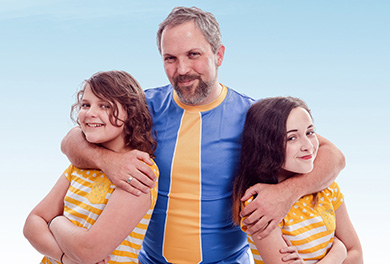 Eric Herman with daughters Evee and Becca